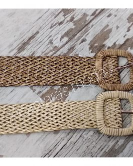 Cinturón rafia mujer