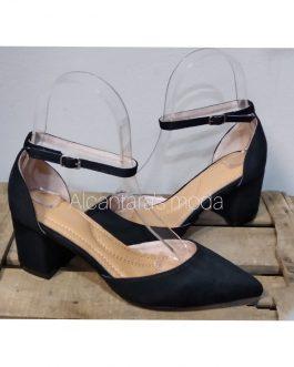 Zapato negro mujer tacón