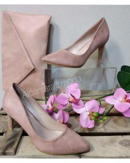 Zapato rosa mujer tacón