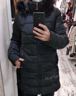 Chaqueta abrigo plumas mujer