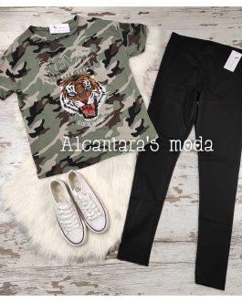Camiseta Tigre Never camuflaje