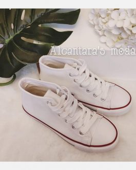 Zapatillas bota blancas niñ@s
