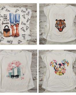 Camiseta blanca dibujo XXL