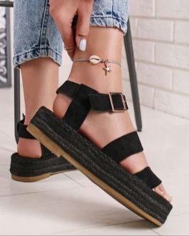 Sandalia plataforma negra