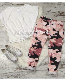 Pantalón camuflaje rosa