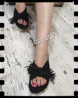 Sandalia pala lazo flecos