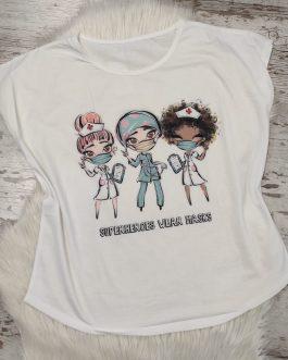 Camiseta blanca homenaje Enfermera