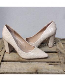 Zapato beige mujer tacón