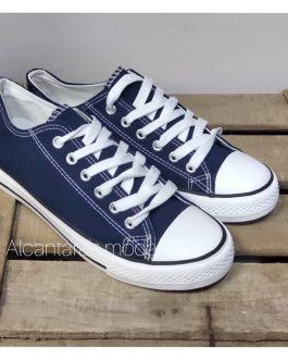 Zapatilla lona color azul