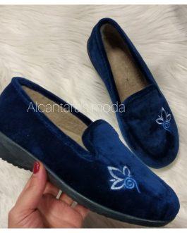 Zapatillas casa mujer azul marino 35 -41