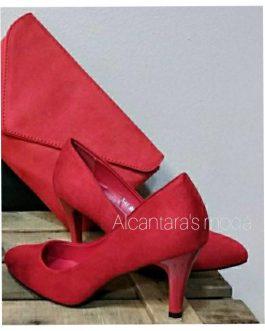 Zapato rojo mujer tacón