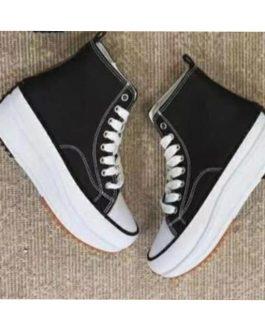 Zapatilla bota material con plataforma