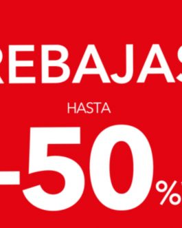 Rebajas en tienda de hasta -50 %