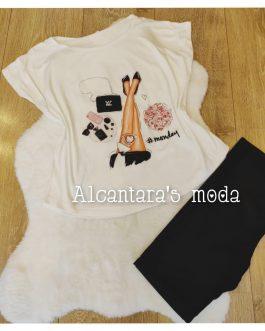 Camiseta blanca dibujo