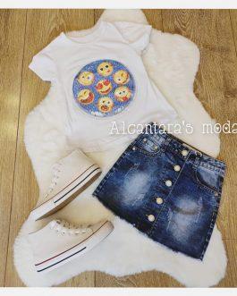 falda vaquera niña con botones
