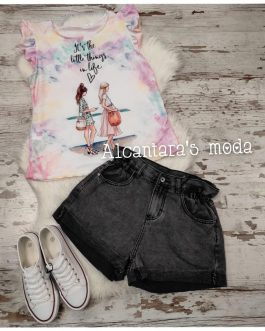 Short jeans mujer negro