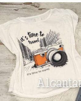 Camiseta blanca travel