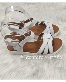 Sandalia plana blanca